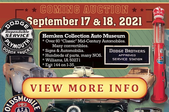 VIEW MORE INFORMATION ABOUT COMING AUCTION(S)